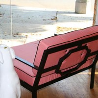 www.roomservicestore.com - Hollywood Oversized Outdoor Chair in Pink with Black Piping