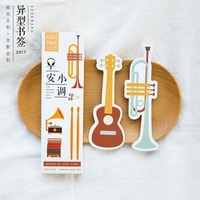 30 pcs/box Heteromorphism Musical instruments paper bookmark stationery  book holder message card school supplies papelaria