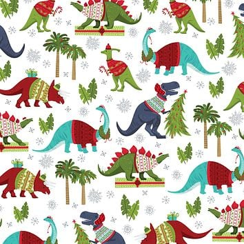 Bulk Ream Roll Christmas Gift Wrap Wrapping Paper, Dinosaurs