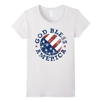 God Bless America Flag Shirt- 4th of July Independence Day