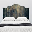 Stained Wood Adhesive Headboard