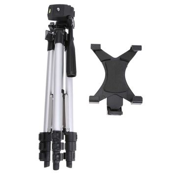 (Unfolded 1060mm) Portable Professional Camera Tripod With Tablet Holder Universal Tripod For Camera / Mobile Phone / Tablet