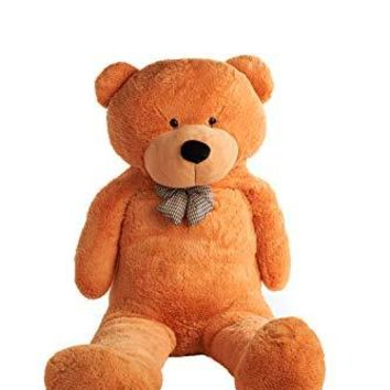 Giant Teddy Bear by Mr. Bear Cares - 6.7 ft tall - Christmas Holiday Gift for a Loved One - Soft and Cuddly - Light Brown