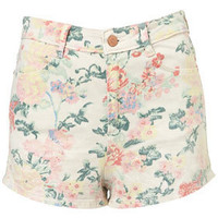 Coated Floral Hot Pants - Shorts  - Apparel