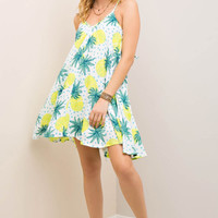 Pineapple Print Tent Sun Dress
