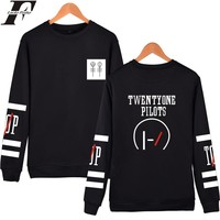 LUCKYFRIDAYF Twenty One Pilots Hoodies Capless Men Brand Designer Mens Sweatshirt  21 Pilots Sweatshirt Men's Hooded Clothes