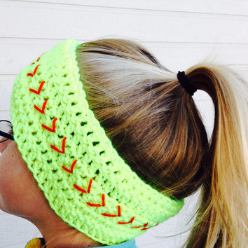Softball Headwrap, Softball Headband, Softball Ear Warmer