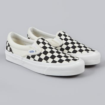 Vans Vault OG Classic Slip On LX - Black/White Checker