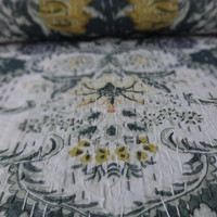 Royal Print Designer Kantha Quilt, Reversible Queen Size Bohemian Bedding, Handmade Indian Cotton Bedspread, Made By Artisians of India