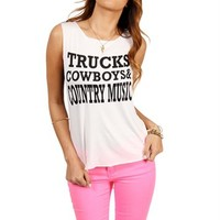 Trucks, Cowboys & Country Music Tee