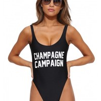 Private Party Champagne Campaign Swimsuit