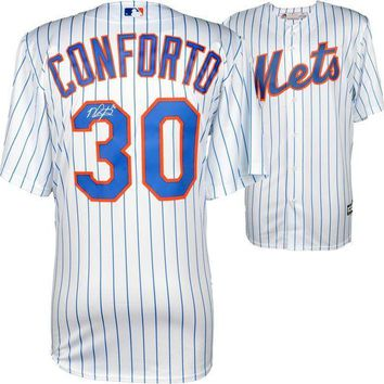 CREYONY Michael Conforto Signed Autographed New York Mets Baseball Jersey (MLB Authenticated)