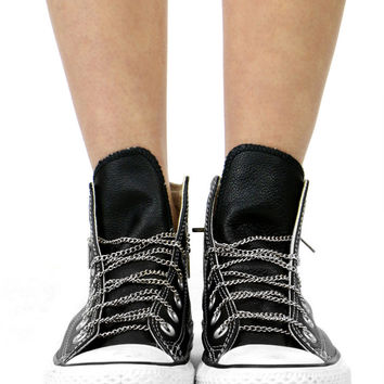 SILVER CHAIN SHOELACES