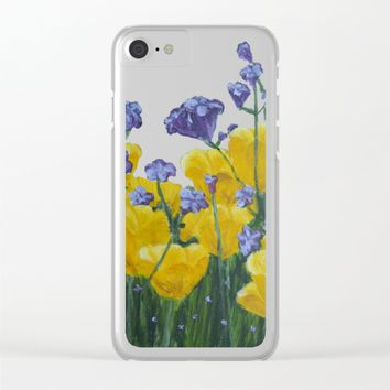 Field of Flowers Clear iPhone Case by Lindsay
