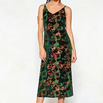 Meadow One Better Floral Burnout Dress