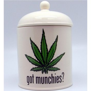 Munchies Jar - Weed Hemp Leaf Cookie Jar