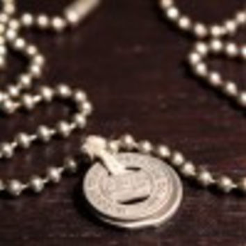 Hudson NY Bus Token Chain Necklace