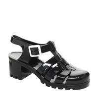 Juju Babe Black Heeled Jelly Sandals