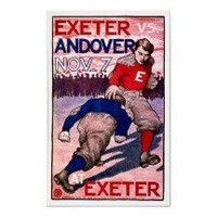 Exeter vs Andover ~ Vintage Football Ad Posters