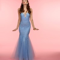 Winter- Sky Blue Formal Dress