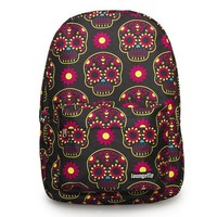 """Brights Sugar Skull Flower"" Backpack by Loungefly (Black/Multi)"