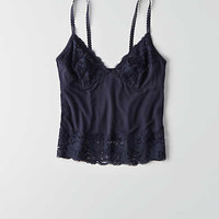 AEO Soft & Sexy Lace Trim Cami , Chalk