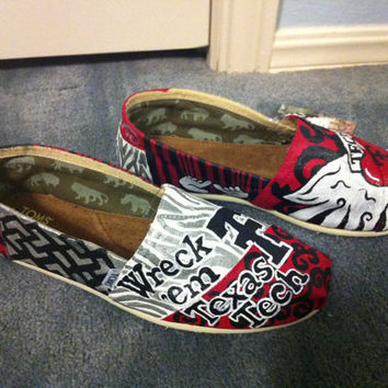 Texas Tech Toms Shoes.  Custom made and hand painted.