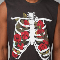 Junk Food Rib Cage Flowers Muscle Tee