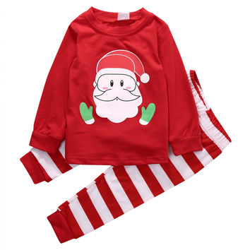 Christmas Toddler Kids baby Girls Pajamas Sleepwear Nightwear Santa Claus Pajamas Set 1-6Y