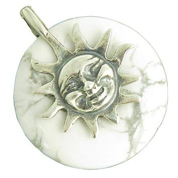 Positive Energy Happy Sun Mom to be Amulet Silver Pendant