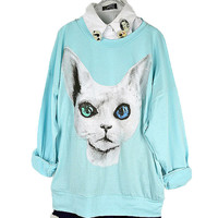 Cat Ice-cream Color T-shirt