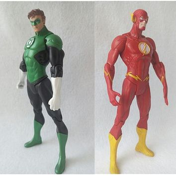 justice league Super Hero the Flash Man Green Lantern Action Figures Toys Collectible PVC Model Toy Christmas Gift For Kids N006