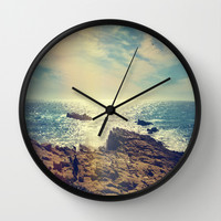 Quintero, Chile. Wall Clock by Viviana Gonzalez