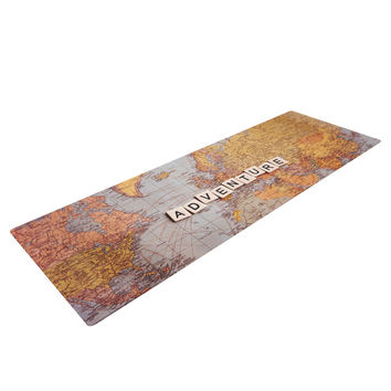 "Sylvia Cook ""Adventure Map"" World Yoga Mat"