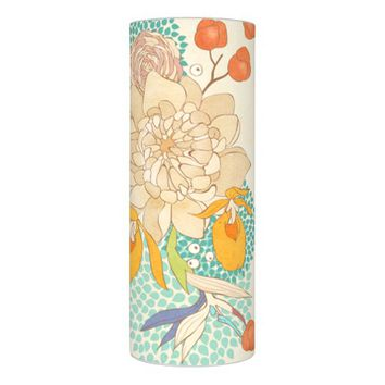 Vintage Peony Flower Pattern Flameless Candle