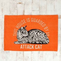 Attack Cat Printed Mat- Orange 2X3