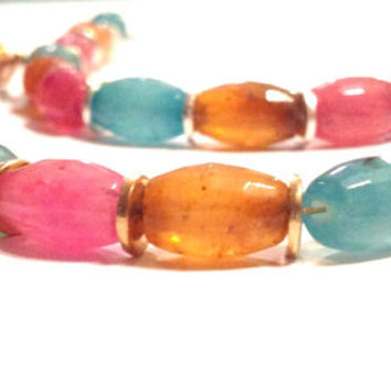 Boho Rainbow Hippie Beaded Bracelet