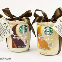 Coffee Love 2 Handmade Coffee Scented Soy Candles Coffee Housewarming Gift Coffee Birthday Gift Starbucks Coffee Gift Set of Frappuccino