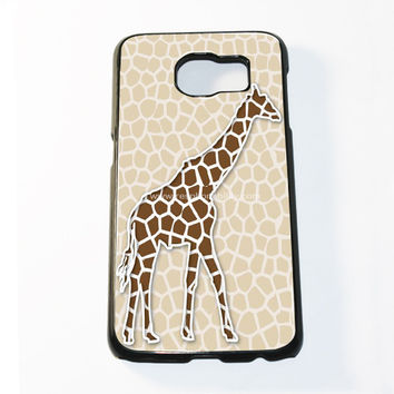 Giraffe Background Pattern Samsung Galaxy S6 and S6 Edge Case