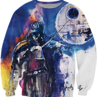 Darth Vader Watercolor Crewneck