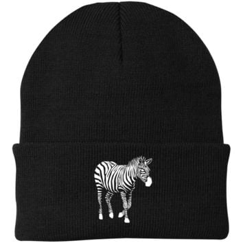 "ZEBRA ""ORIGINAL"" BEANIE IN BLACK"