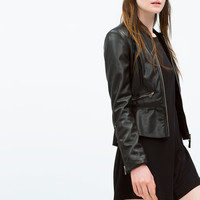 PEPLUM BIKER JACKET New