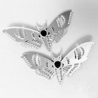 Curiology | Deaths Head Mirror Moth Hair Clips - Tragic Beautiful buy online from Australia