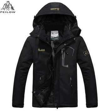 PEILOW Winter women Men Parka Jacket men`s Fashion Hooded Thick Warm Outwear Waterproof Windproof Overcoat Wadded Coat