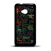 one direction song HTC One M7 Case