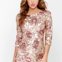 Glam Plan Pink Sequin Dress