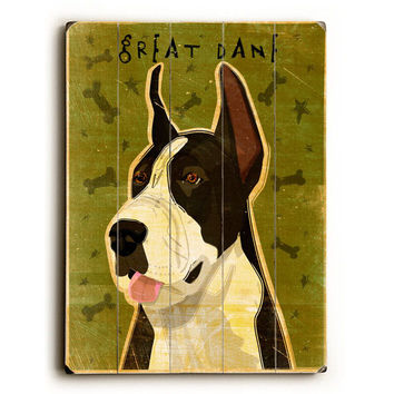 Great Dane by Artist John W. Golden Wood Sign