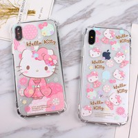 For iPhone XS Max XR X Hello Kitty Cat Kitten Shockproof Anti-knock Soft TPU Cover Case For iPhone 6 6S 7 8 Plus