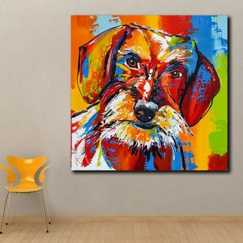 Animal Pop Art French-Bulldog Oil Painting Wall Art Paiting Canvas Paints Home Decor Abstract Print Painting Modern Wall Decor