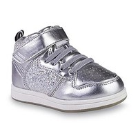 Piper & Blue Toddler Girl's Jazzy Silver High-Top Sneaker - Clothing, Shoes & Jewelry - Shoes - Baby & Kids Shoes - Kids' Shoes - Girls' Shoes - Girls' Sneakers